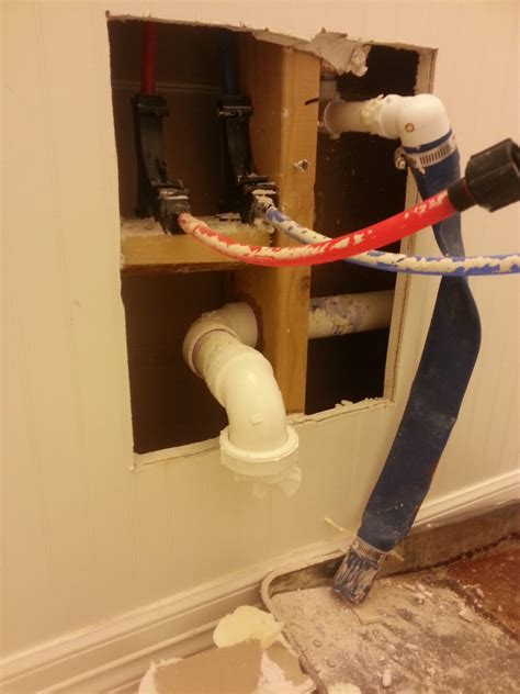 plumbing  p trap  installed  wall home