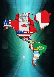 3d America Map Vector Design