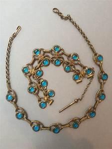 demi parure collier et bracelet en metal dore et pate de ver With parure collier bracelet