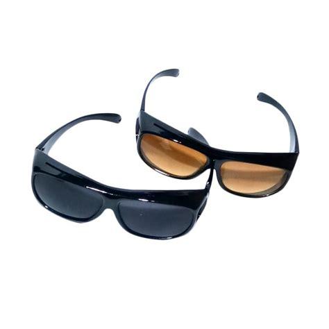 jual ask vision kacamata anti silau hitam kuning 2 pcs harga kualitas terjamin