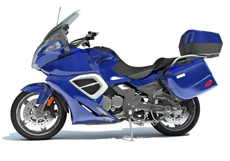 Blue Motorcycle 3d Models
