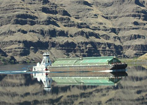 Tugboat And Barge by Snake River Tugboat And Barge Inland 360