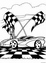 Track Coloring Printable Racing sketch template