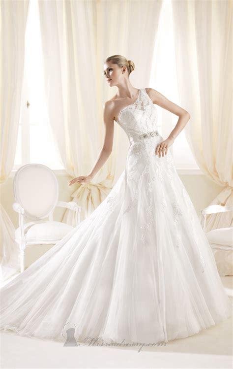 23 Elegant One Shoulder Wedding Dresses - Style Motivation