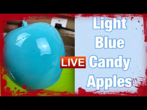 (38) How To Achieve Light Blue Candy Apples - YouTube ...