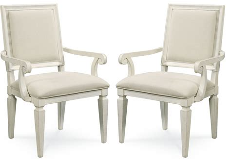 Summer Hill White Woven Accent Arm Chair Set Of 2 From