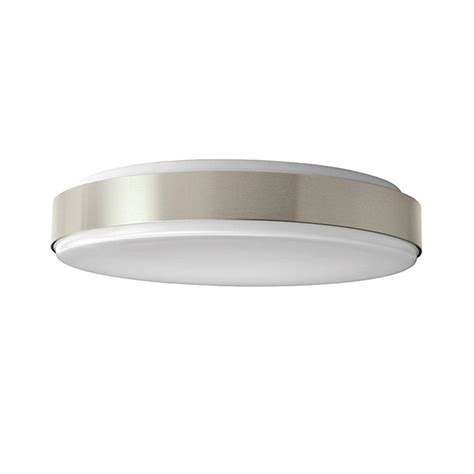 home depot flush mount ceiling light fixtures hton bay 15 in brushed nickel led round ceiling flush