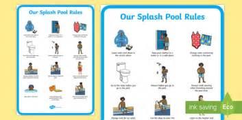 Splash Pool Rules Primary Display Poster