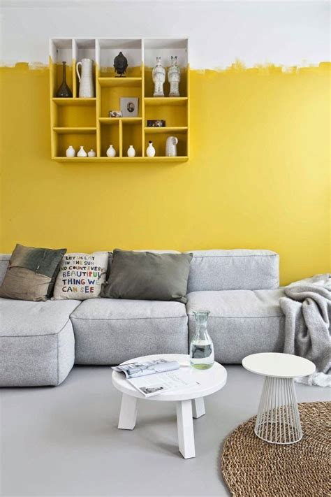 Yellow Bedroom Walls Meaning by 25 Best Yellow Accent Walls Ideas On Grey