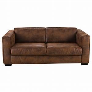 Maison Du Monde Berlin : ausziehbares 3 sitzer sofa mit braunem microsuede bezug ~ A.2002-acura-tl-radio.info Haus und Dekorationen
