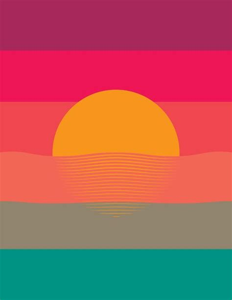 sunset colors graphic design design inspiration