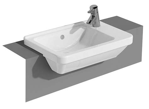Vitra S Compact Semi Recessed Basin Right Hand