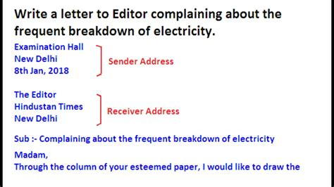 letter  editor complaining  electricity breakdown