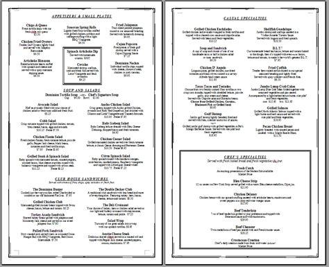 Restaurant Menu Template Free Printable Template Restaurant Menus Simple Menu