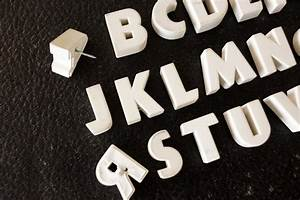 vintage white ceramic push pins alphabet letters a to z With push pin letters