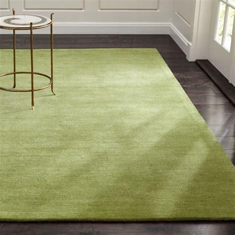 baxter lemongrass green wool rug crate  barrel
