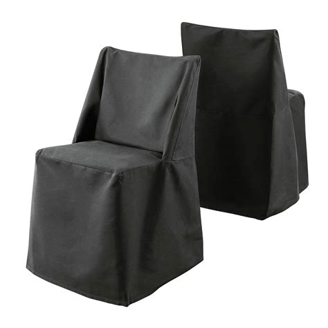 sure fit cotton duck folding dining chair slipcover black