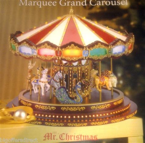 christmas grand marquee musical carousel led lights