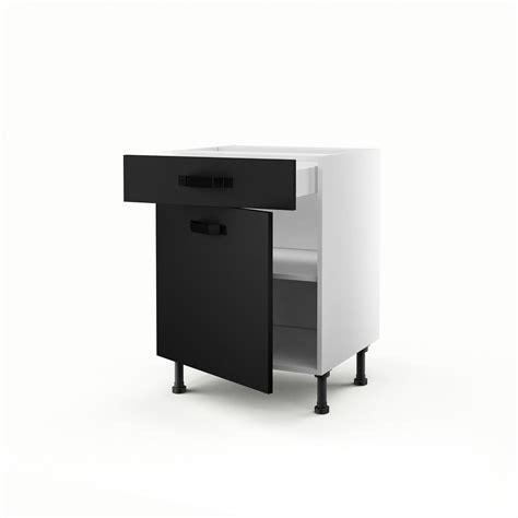 leroy merlin porte de cuisine meuble de cuisine bas noir 1 porte 1 tiroir mat edition