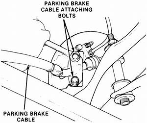 Service Manual  1992 Ford Tempo How To Adjust Parking Brake