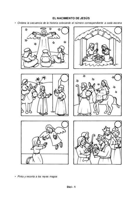 dici  el nacimiento de jesus ordena la secuencia de