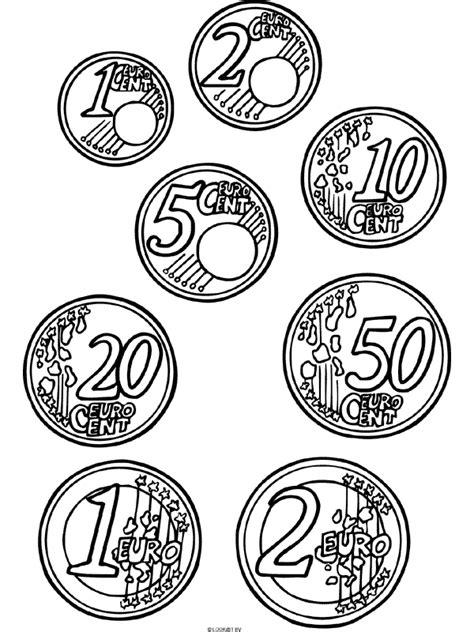 Kleurplaat Euromunten kleurplaat euromunten geld euros kleurplaten nl