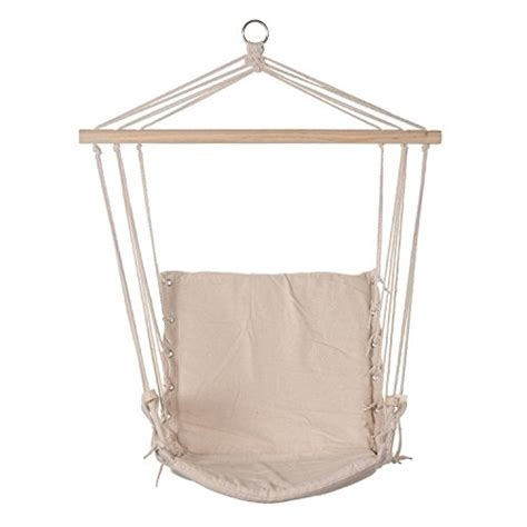 hanging rope chair cotton padded swing chair hammock seat