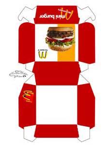 Burger Box Template Printable