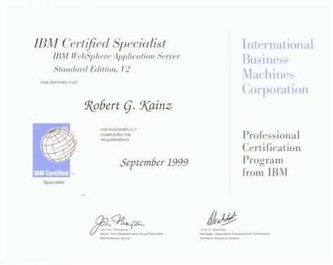 Ibm Websphere Application Server Resume by Robert Kainz S Resume