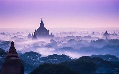 Asia Landscape Temple Nature Architecture Building Mist