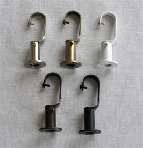 Drapery Rod Bracket urbanest zinc steel curtain drapery rod adjustable bracket