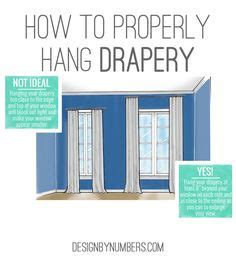 1000 ideas about how to hang curtains on hang