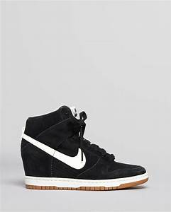 Nike High Top Wedge Sneakers Dunk Sky Hi in White | Lyst