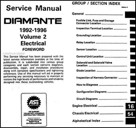 auto repair manual free download 2002 mitsubishi diamante security system 1992 1996 mitsubishi diamante repair shop manual set original