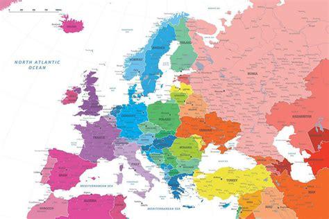 push pin map canvas diy colorful map of europe europe travel map push pin