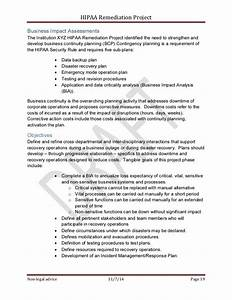Sample hipaa security rule corrective action plan project for Security remediation plan template