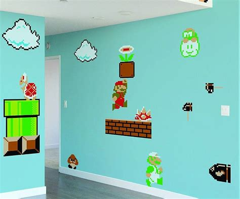 Kitchen Wall Mural Ideas - super mario bros wall stickers peenmedia com