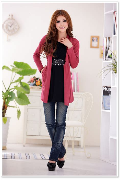 Skinny Jeans Short Knee Boots Jacket College Girl Fashion - Womenitems.Com