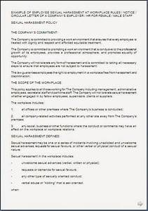Cease And Desist Template Sexual Harassment Policy Sample Template