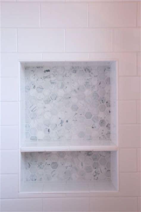 marble shower shelf shower niche for the home pinterest