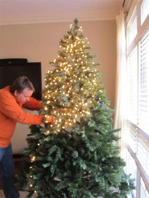 putting lights on tree best method lizardmedia co
