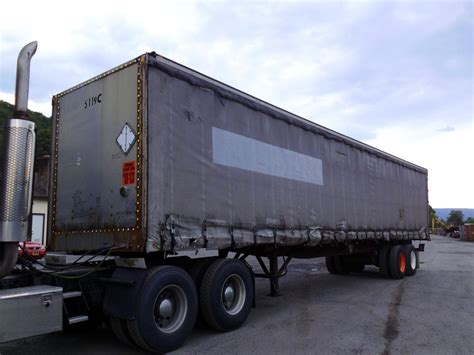 1996 nuvan 45 tandem axle curtainside trailer for sale by