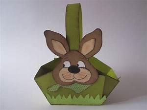 Osterkörbchen Hase Basteln : ein osterhasen osterk rbchen aus papier basteln bastel ~ A.2002-acura-tl-radio.info Haus und Dekorationen