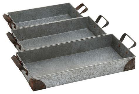 Unique Style Impressive Styled Amazing Metal Tray Set Of 3