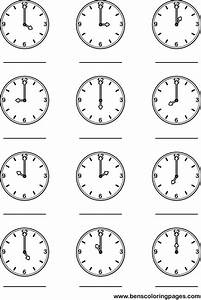 clock coloring sheets for kindergarten white clip art With exercise timers