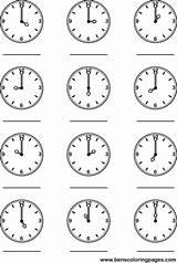 Clock Coloring Worksheets Pages Kindergarten Learning Tell Printables Worksheeto Printable Telling Practice Via Hour Teaching sketch template