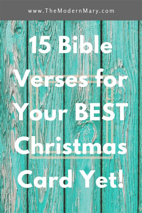 Gifts of time and love are surely the basic ingredients of a truly merry. 15 Verses for Your Best Christmas Card Yet - The Modern Mary
