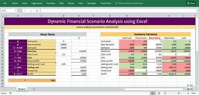 Scenario Analysis Dynamic Financial Excel Using Variance