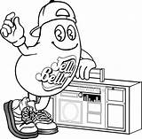 Coloring Pages Jelly Belly Bean Boombox Cool Stuff Printable Olds Mr Candy Colouring Shopping Cart Drawing Stanley Cup Clipart Enjoy sketch template