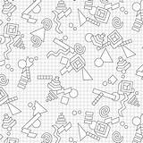 Drawing Grid Own Paper 80s Geometric Coloring Retro Getdrawings Choice sketch template